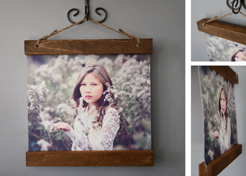 Rustic Canvas - Your image printed on canvas and hung from reclaimed wood, jute, and copper.*only comes in 11x14 & 16x20