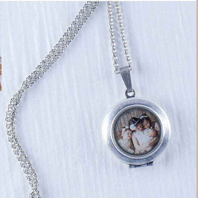 Lockets - Select from 2 chain lengths or a keychain and then decide on silver, antique gold, or rose gold.$65-79