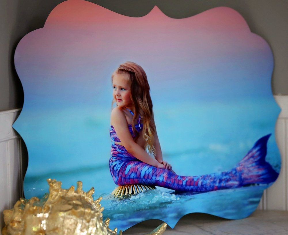 Luxe Metal - A unique design and vivid colors make this my favorite option for mermaid sessions or anything with a colorful and whimsical scene. These have a