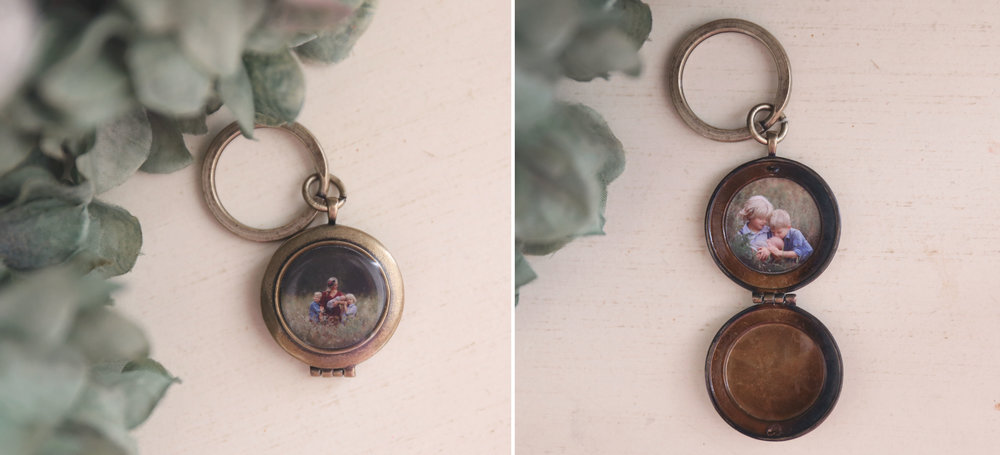 Lockets - Antique Gold, Silver, or Rose Gold - and select from keychain (shown), 16 or 24