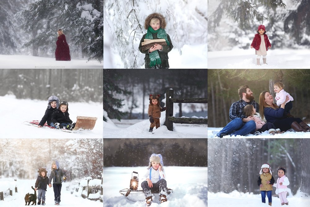 Winter Family Photo Sessions in Buffalo, NY