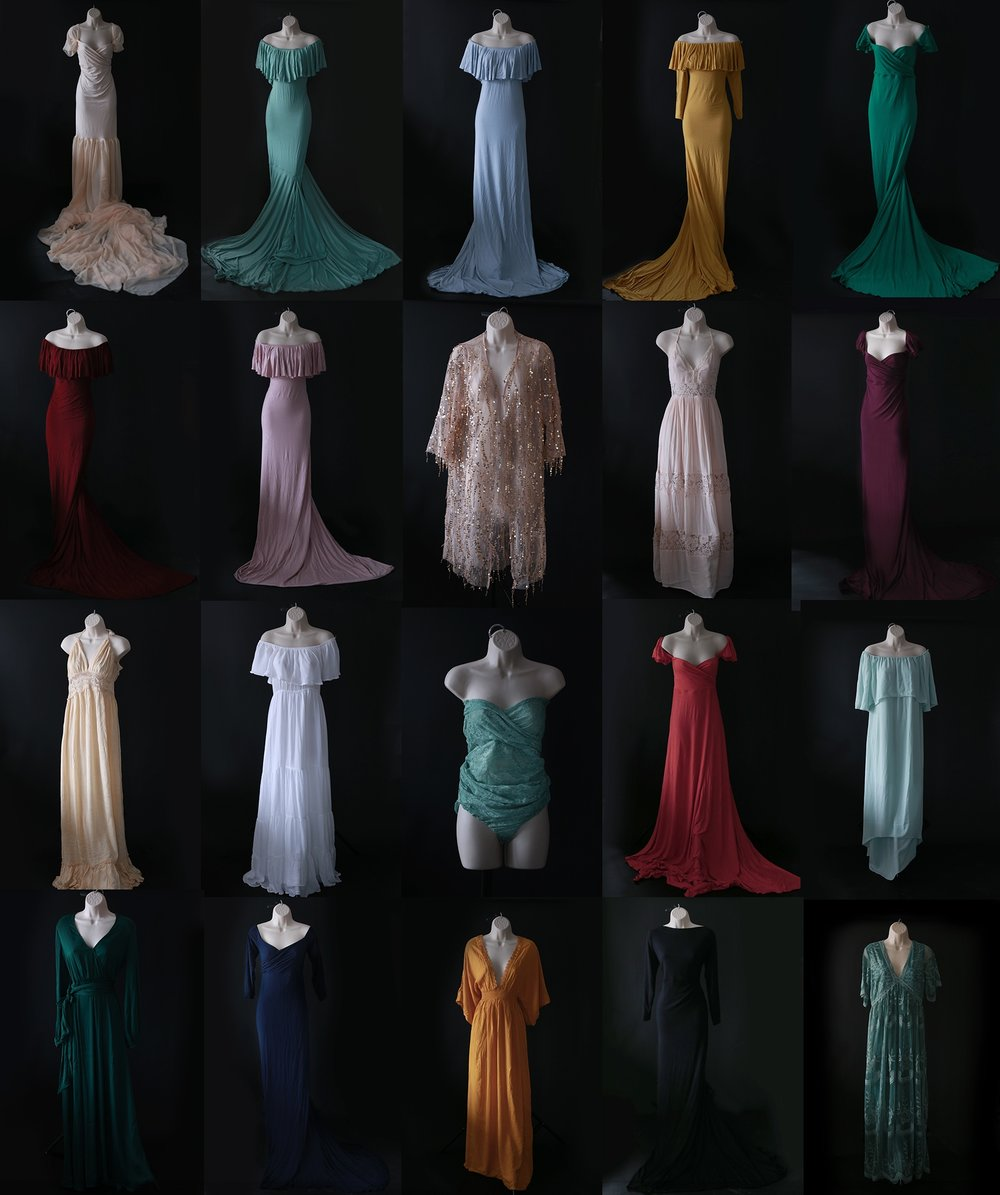 - I also have a closet of 25+ beautiful dress available exclusively for my moms to wear if they choose.