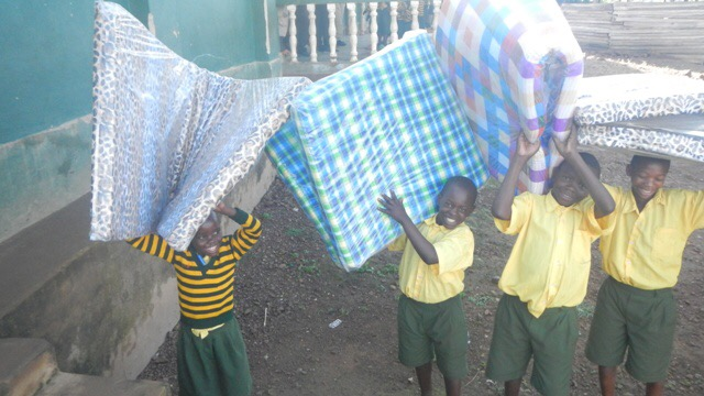 Because of one generous donor we were able to send funds to Uganda for 80 mattresses, sheets, and blankets.