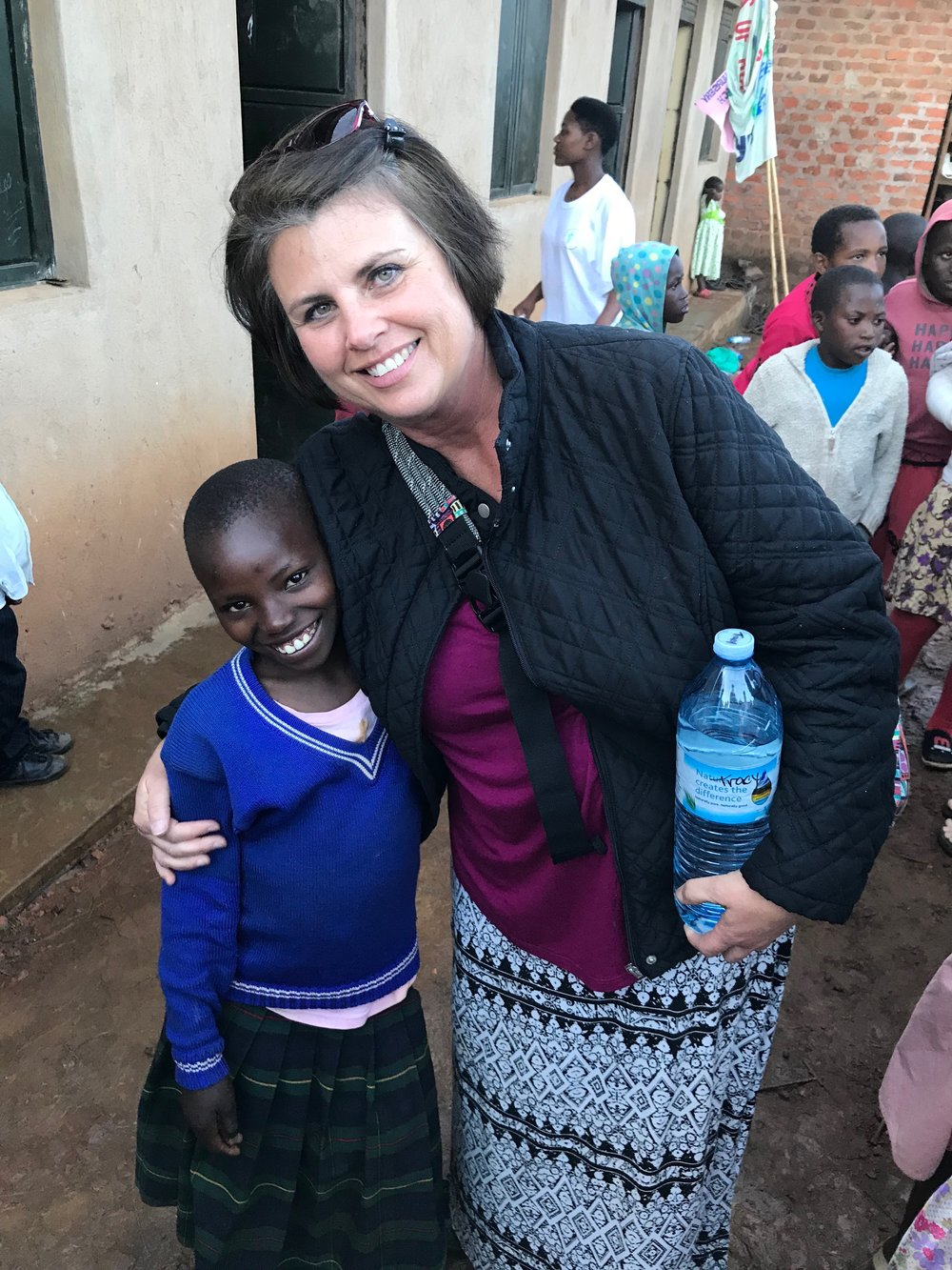 Mercy meeting her sponsor, Tracy, for the first time. Love at first sight!