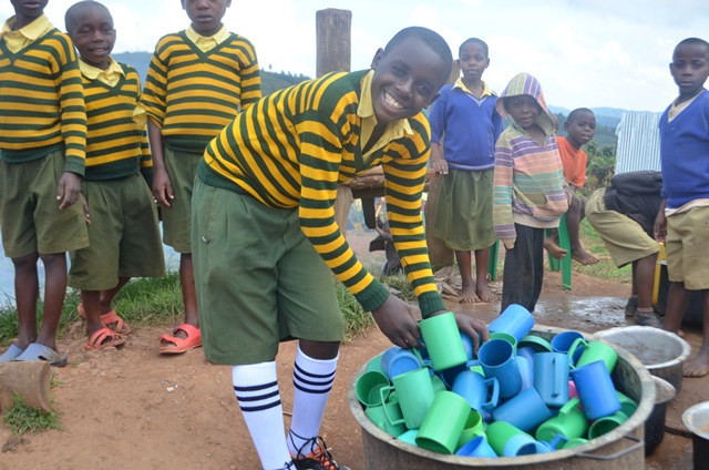 Twebaze is a great help at the Seeds of Hope Home as he is one of our older children.