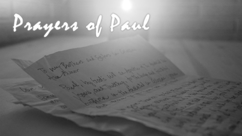 A three-part summer series from guest preachers exploring various aspects of Paul's prayers