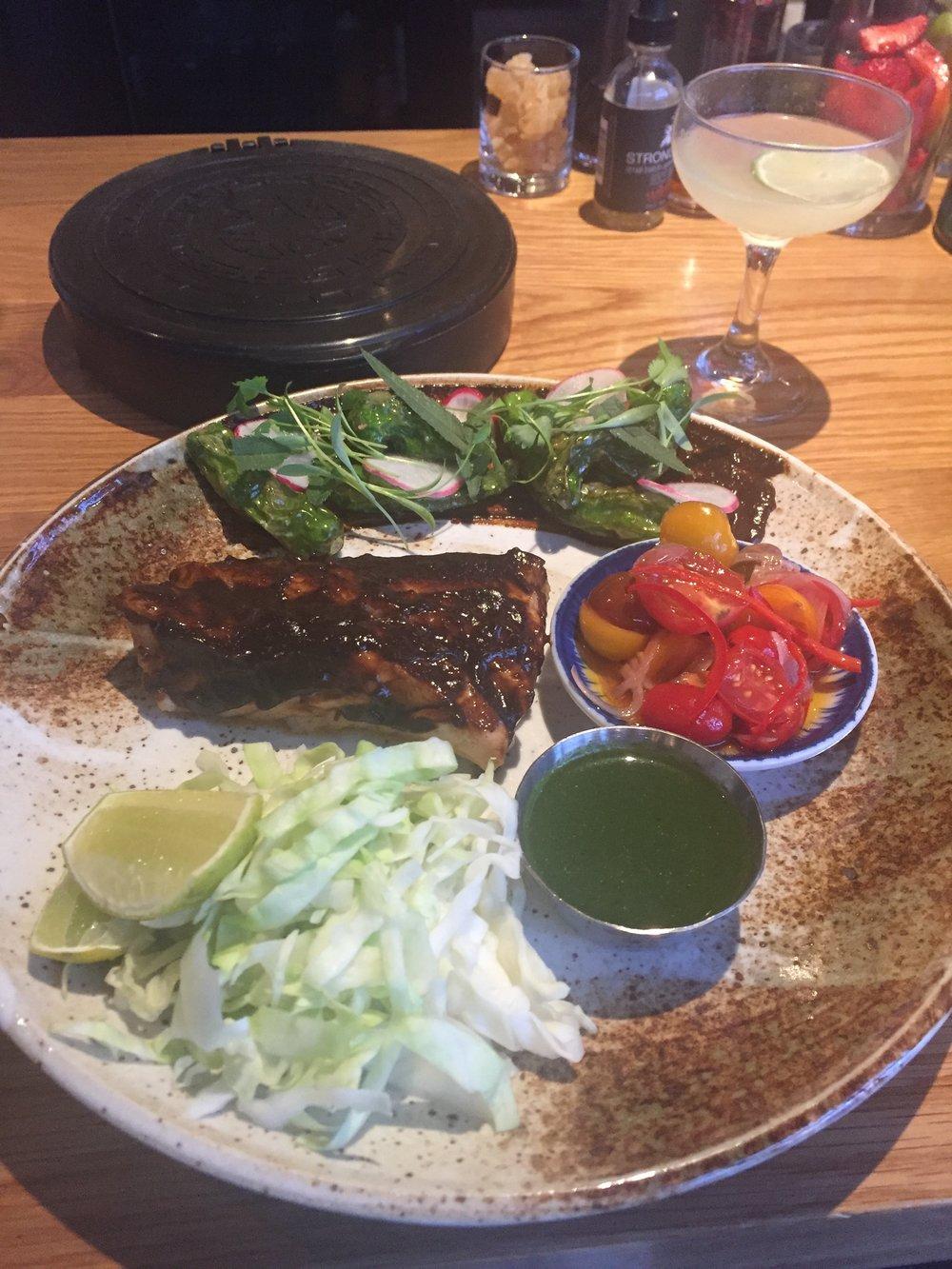 Mole grouper tacos