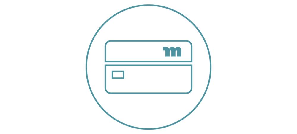 Tarjeta de Débito - Cuando abres una cuenta con nosotros, obtienes una tarjeta de débito Motiv gratuita que funciona en todos los lugares donde se acepta Visa®, en los EE.UU. y pais extranjero..