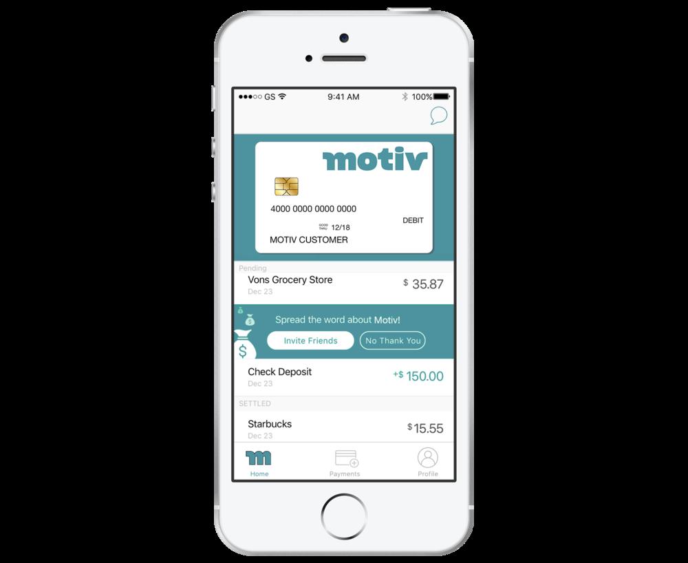 El app de Motiv es sencillo,gratuito y en espanol, y le ayuda a manejar tu dinero.