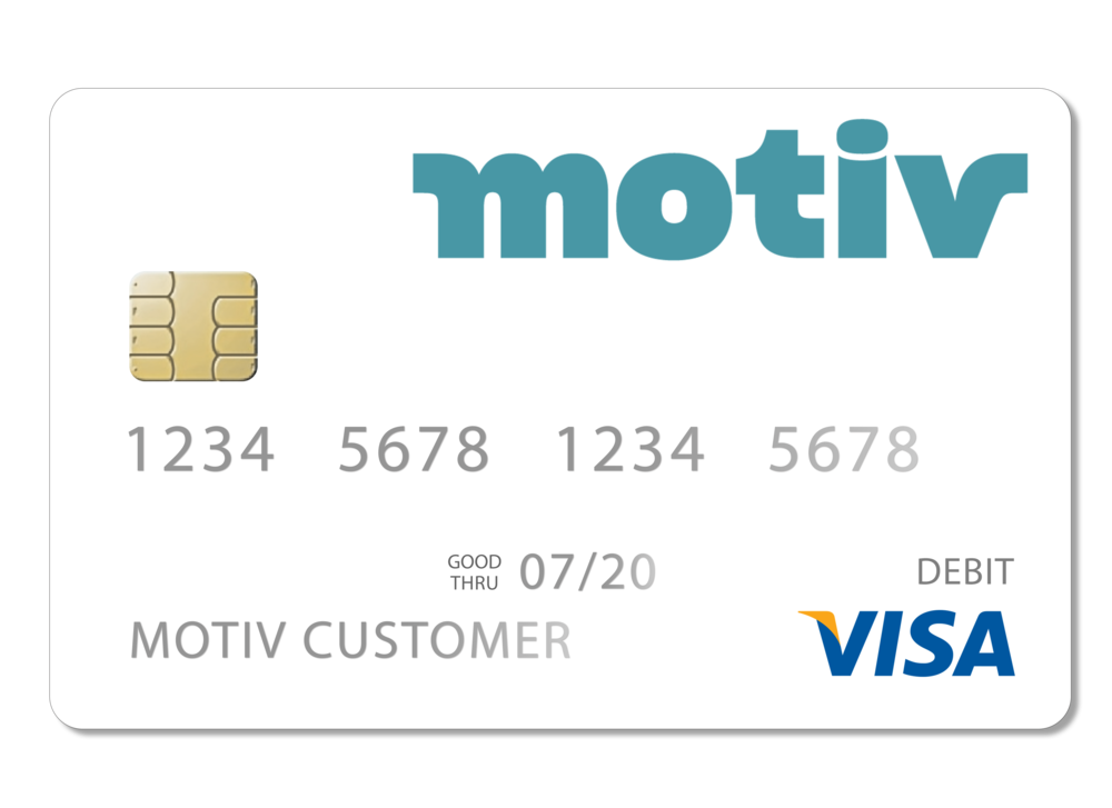 The Motiv Visa® debit card works in the US and internationally. There are no charges for domestic or international purchases.