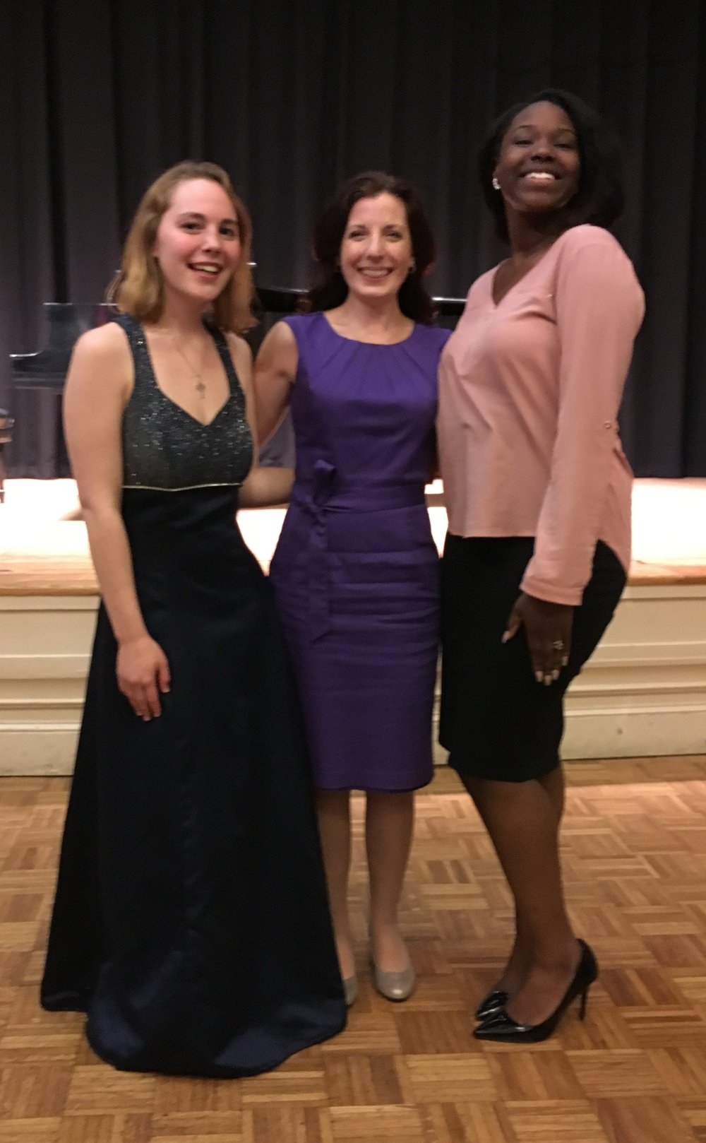 After the Handel & Haydn Vocal Apprentice Spring Concert with graduating senior voice students Johanna Geremia and Jayne Veillard in NEC's Williams Hall