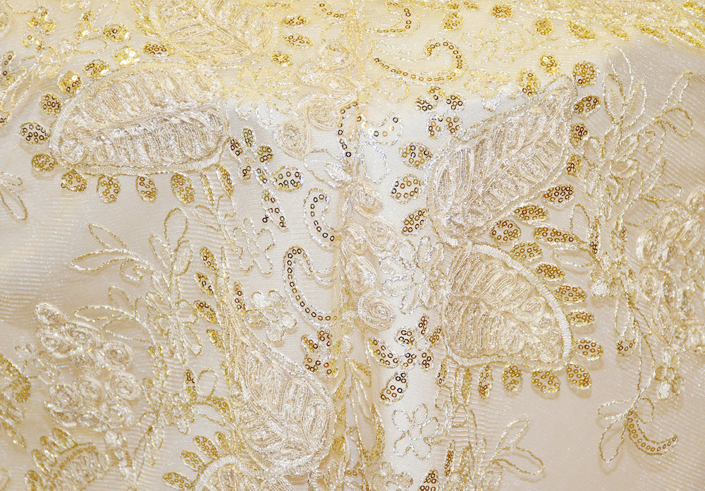 Gold Overlay Embroidery