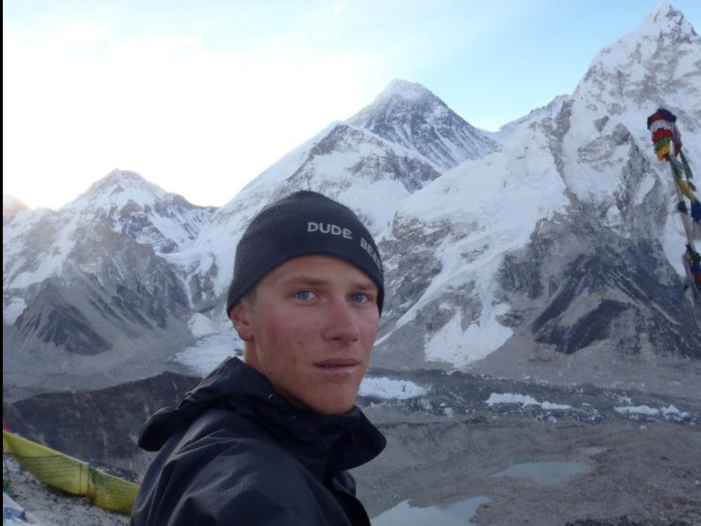 "Selfie with Mount Everest (8848m), before ""selfies"" were a thing."
