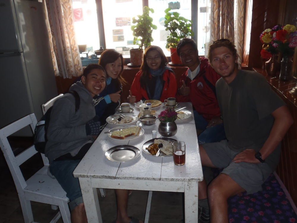 Making friends on the back half of the Annapurna Circuit.