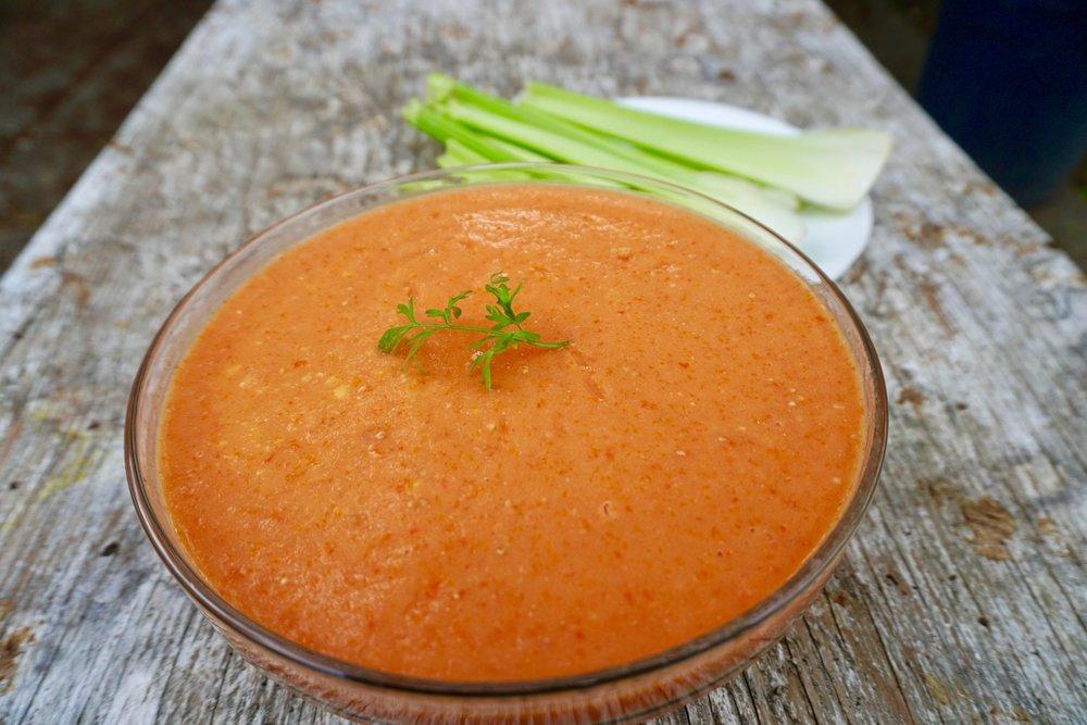 Mango tomato soup