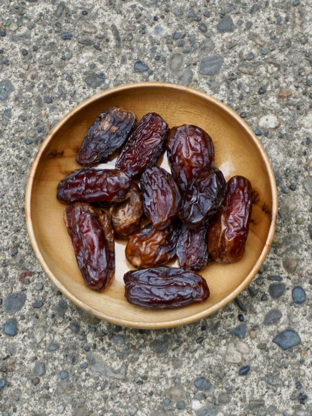 Dates: easy to eat and calorically dense...just make sure to remove the pits!