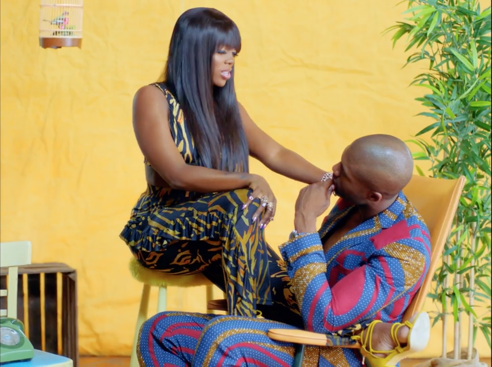 Tiwa Savage wearing Yemzi in the Sugarcane music video