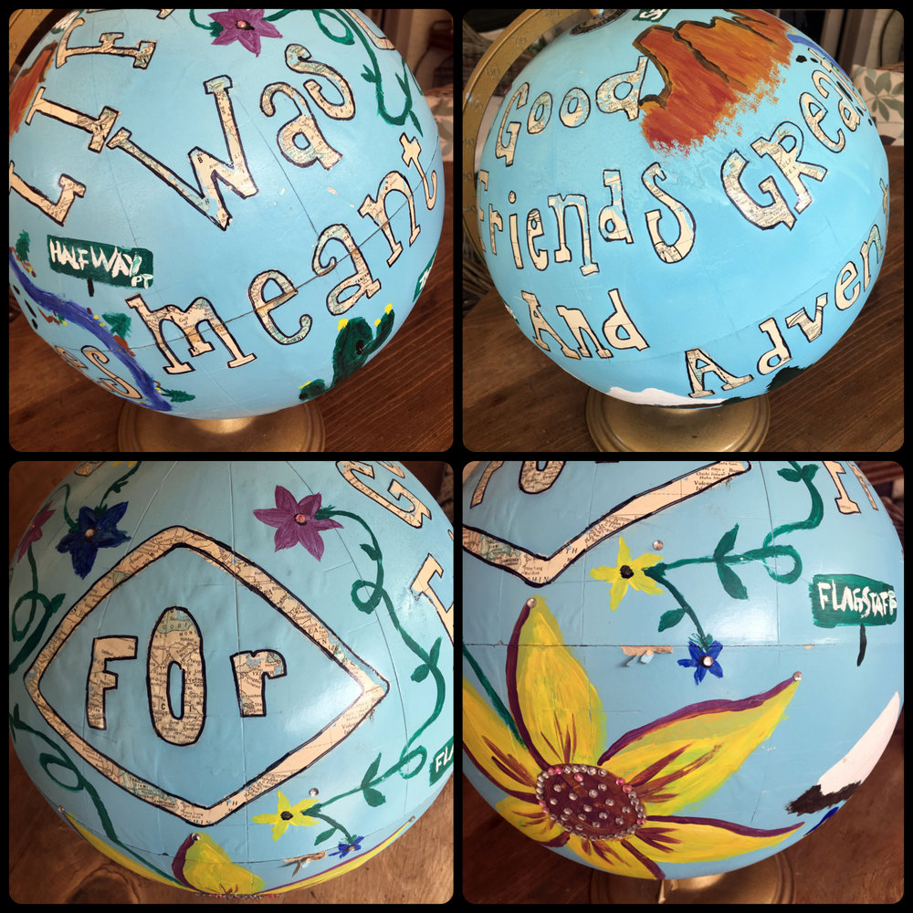 Added to the Globes, Maps & Clocks Collection: Awesome hand-painted friends globe