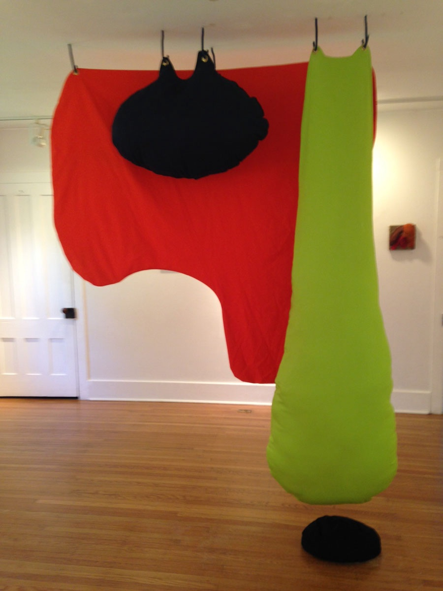 Organic Sculpture in Red, Yellow, Blue and Black