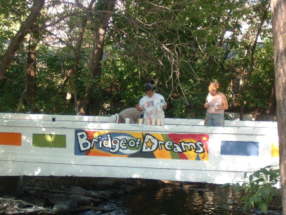 Bridge of Dreams community art project - detail