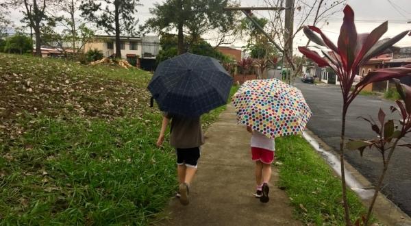 The rainy season has begun.