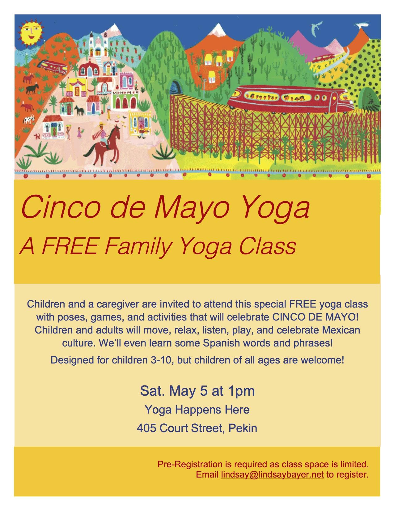 Cinco De Mayo Family Yoga Lindsay Bayer