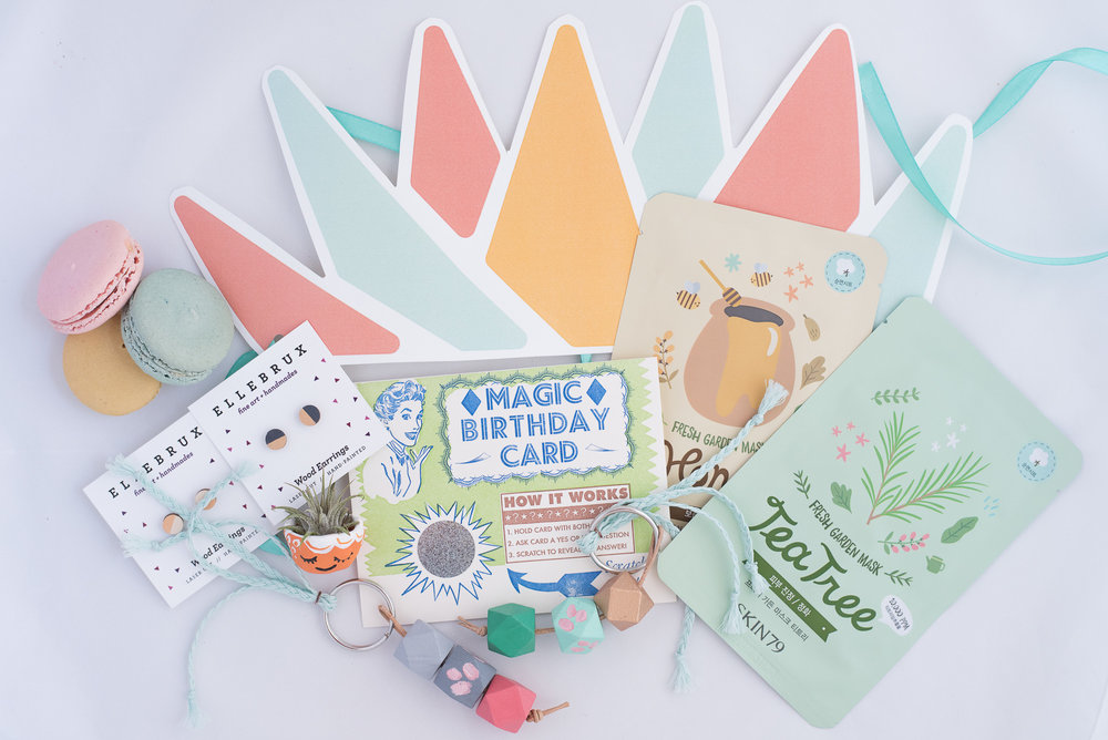 Paper Petal Care Package Delivery Gift Box Cincinnati Sheet Mask Macaon Bar Mixie Studio Steamwhistle