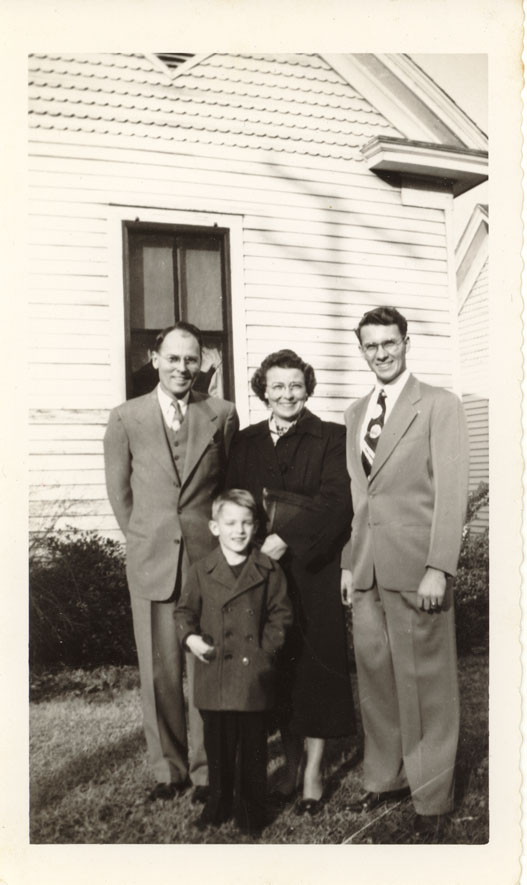 Marshall Sr, Louise, Marshall Jr, & Phil Crane 1950s