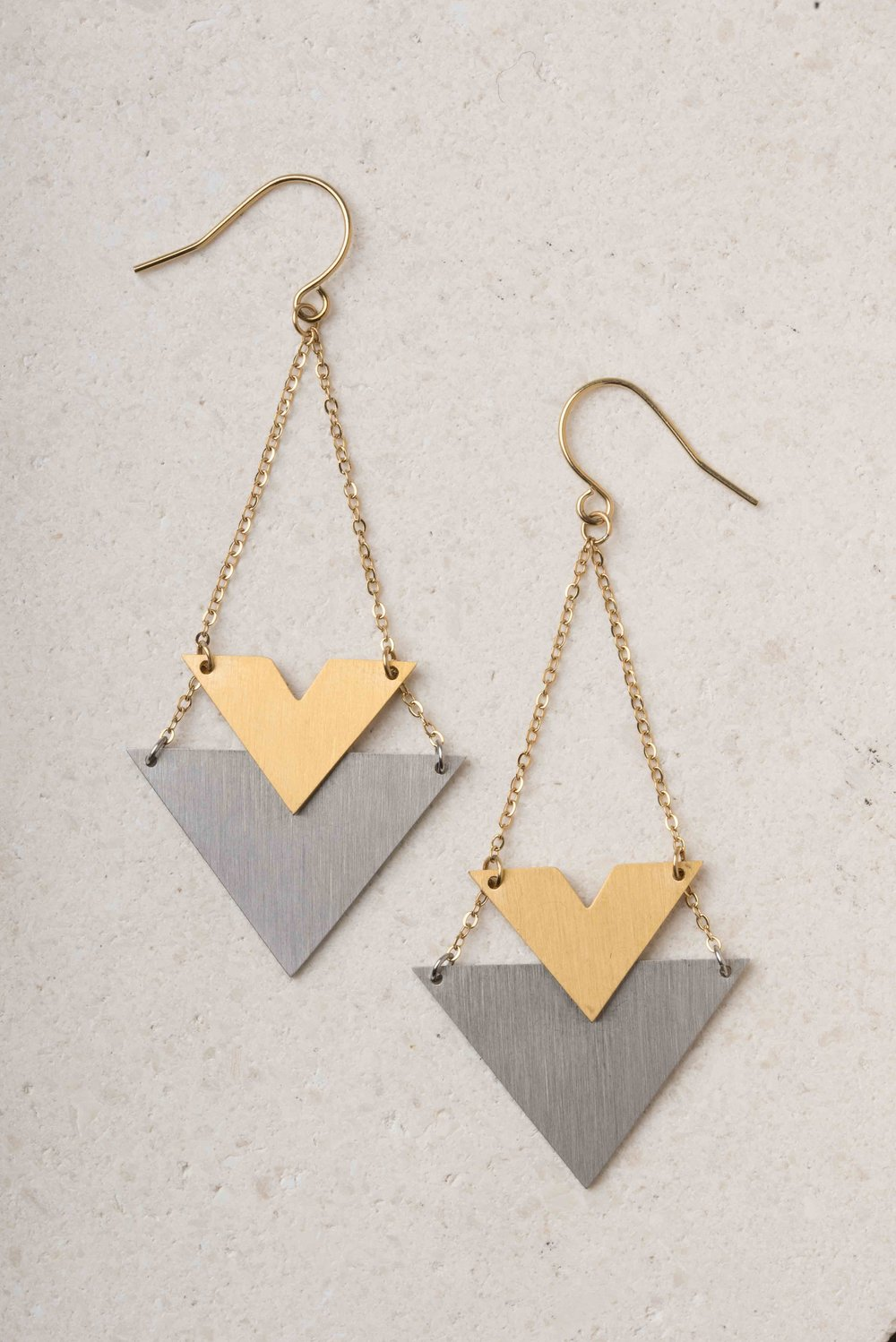 Wynne Stainless Steel Gold Earrings $38.99