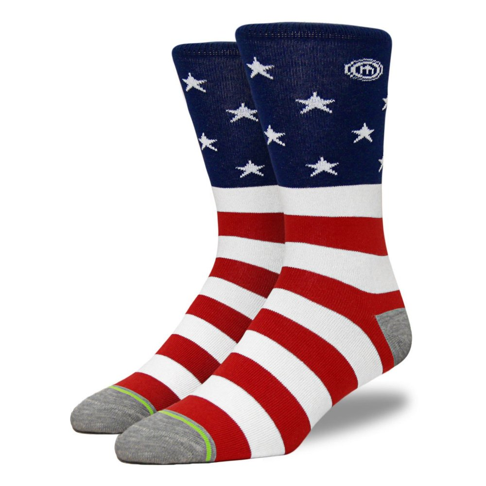 Feeling patriotic? Show your American pride with some classy stars and bars.  The Independence sock $14