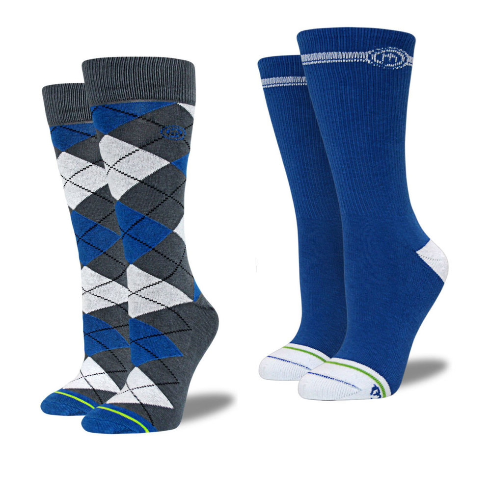 For you Kentucky Wildcats fans, here's a new pair of lucky socks. (Other colors, too)  Flatwater argyle sock $14  &  Solid crew $10