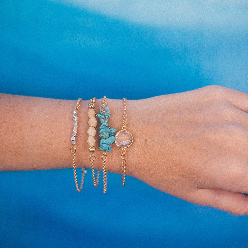 So many beautiful bracelets, it's hard to decide. Grab one of their Bracelet Stack collections and you don't have to! Alex Stack, $54