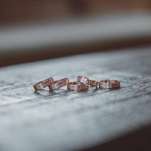 Know someone that needs a daily dose of encouragement? These Mantra Rings will give her a boost every time she looks at her hand. Choose from 5 positive sentiments, in rose gold, gold or silver. $38