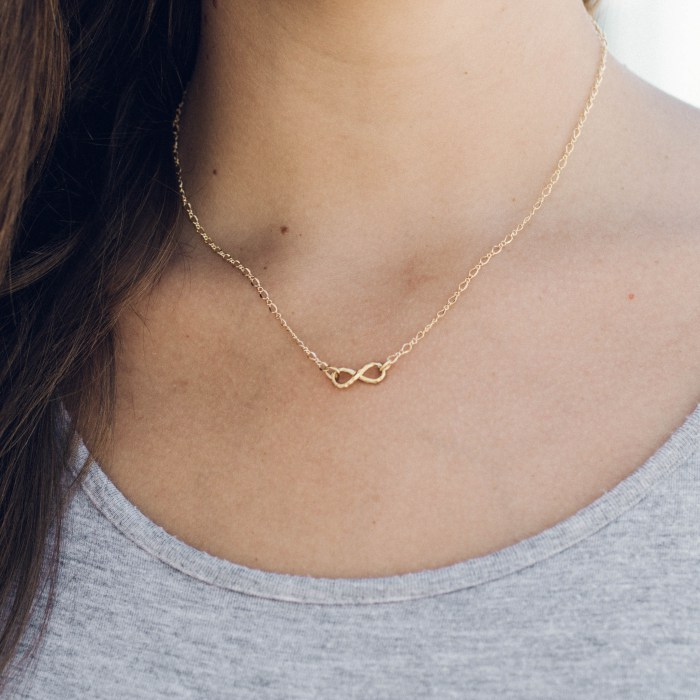 Want to express your undying love? Say it simply with this gold Infinity Necklace. $29.99