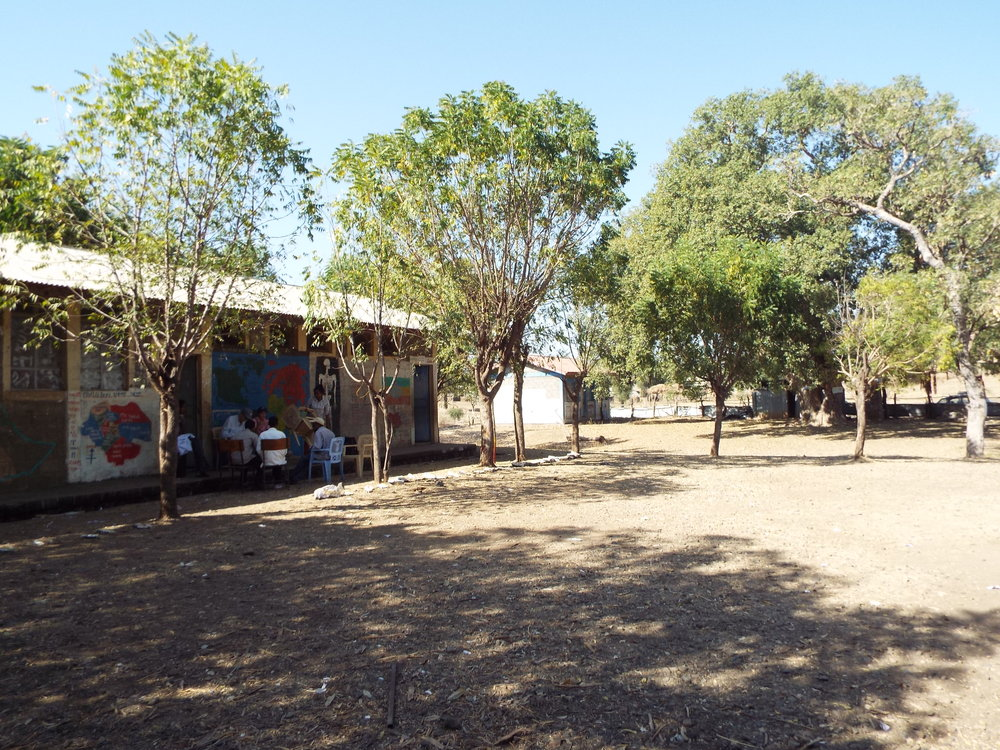 View from inside the Tumet School Compound