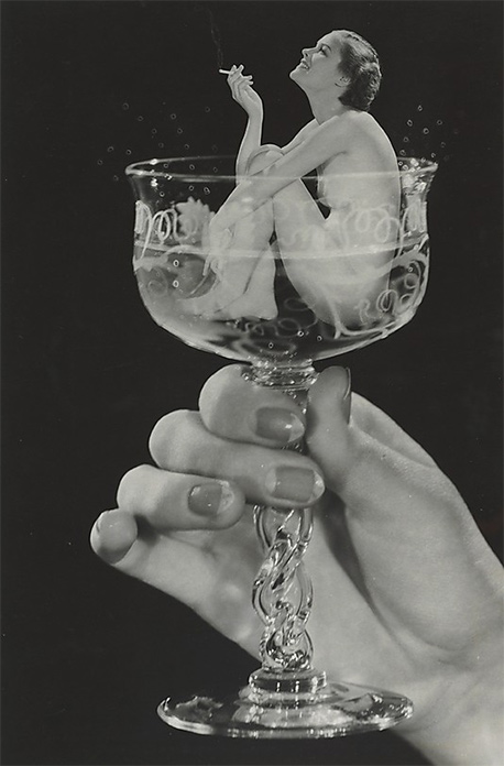 Howard S Redell Woman in Champagne Glass 1930