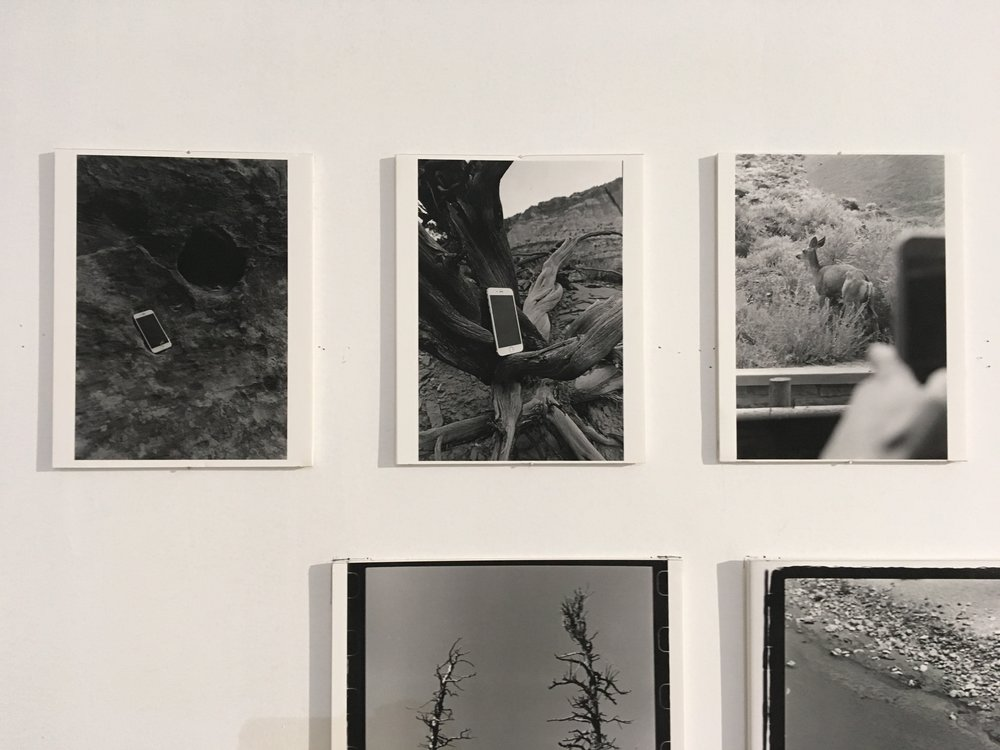 Two Mirrors in a Gorge; Black Mirror Reflection; Remembering the Remembrance of an Over-Exaggerated Moment   (left to right) 2018, silver gelatin print, 8 x 10 in.  Pingyao International Photography Festival 2018, China