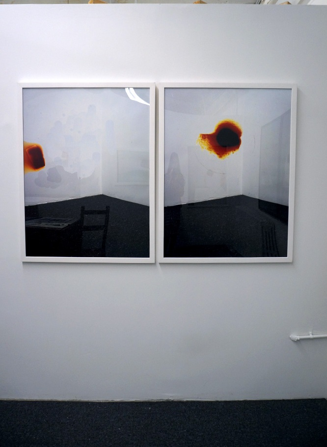 (left to right)  White Walls:iPhone Edit 01; White Walls: Flash 01,  2016, Digital C-Print, 30 x 40 in.  Installation View (S)PACE 03, New York, NY