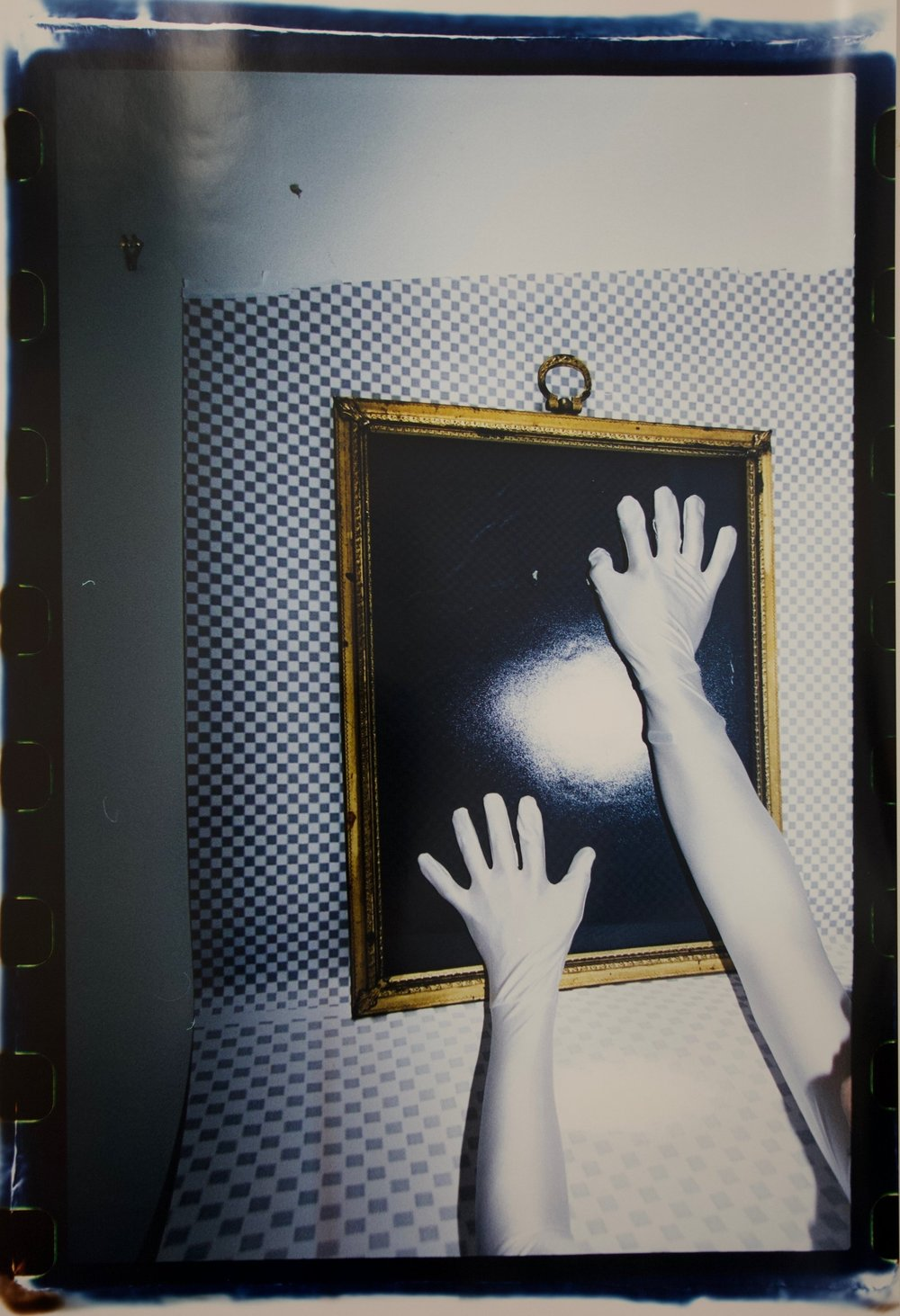 The Pleasure in Black Mirror Transparency_01 , 2017, Chromogenic print