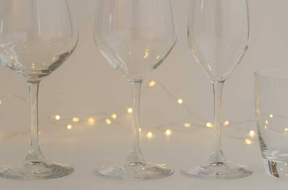Wedding and event glassware for hire