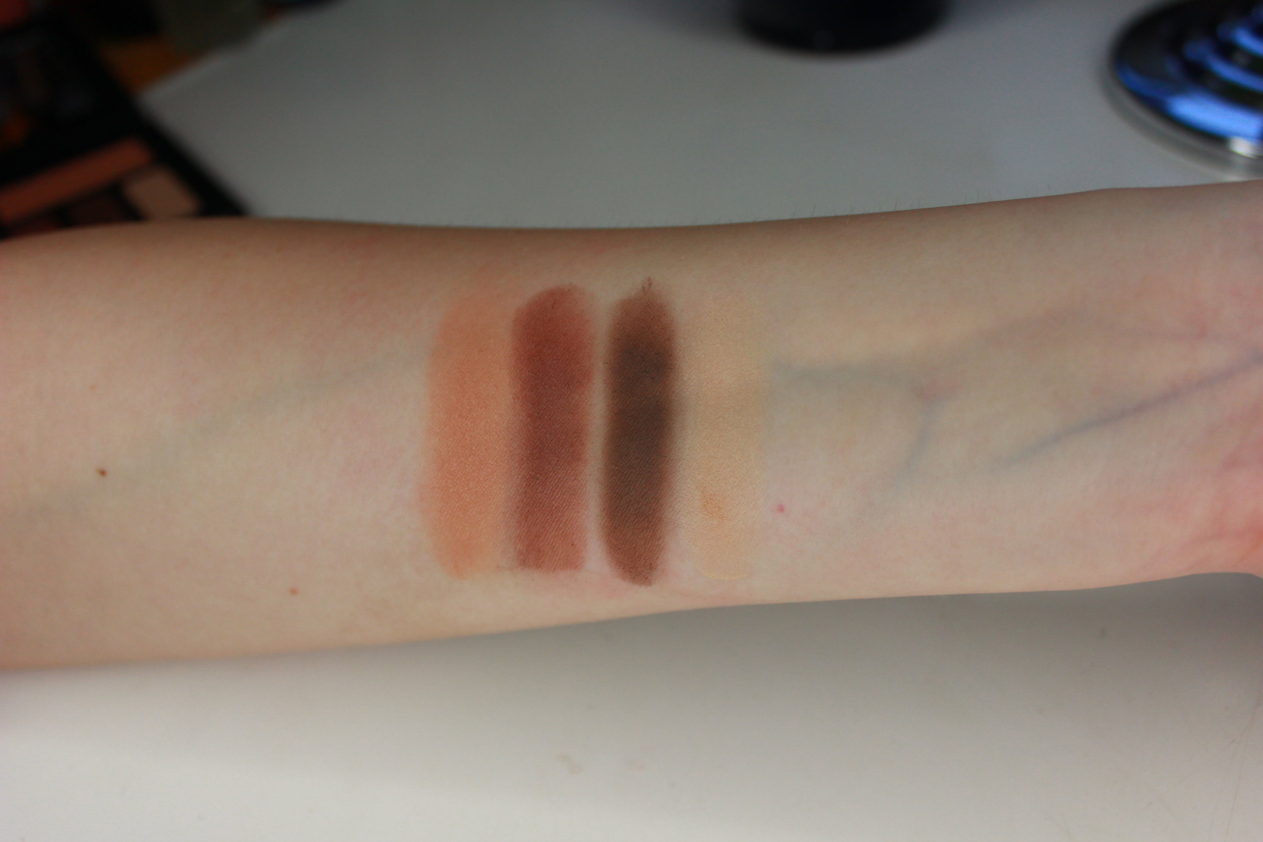 shade & light warm quad swatches