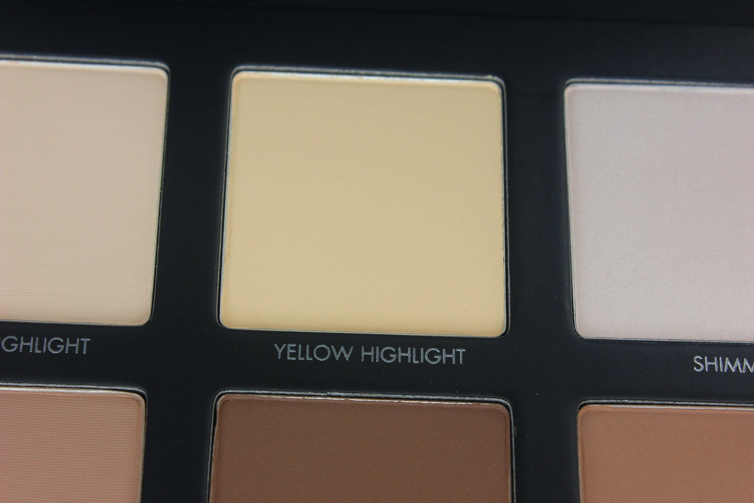 Lorac Pro Contour Palette - Yellow Highlight Swatch 1.JPG