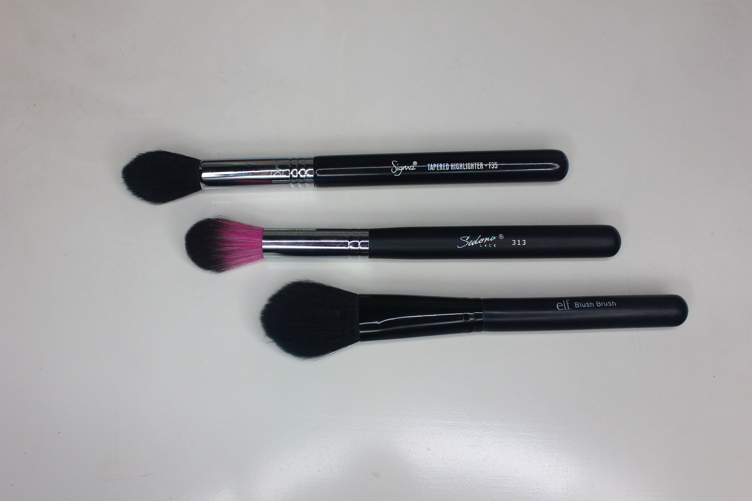 Sedona Lace PrettyLilMzGrace brush set - 313 brush comparisons