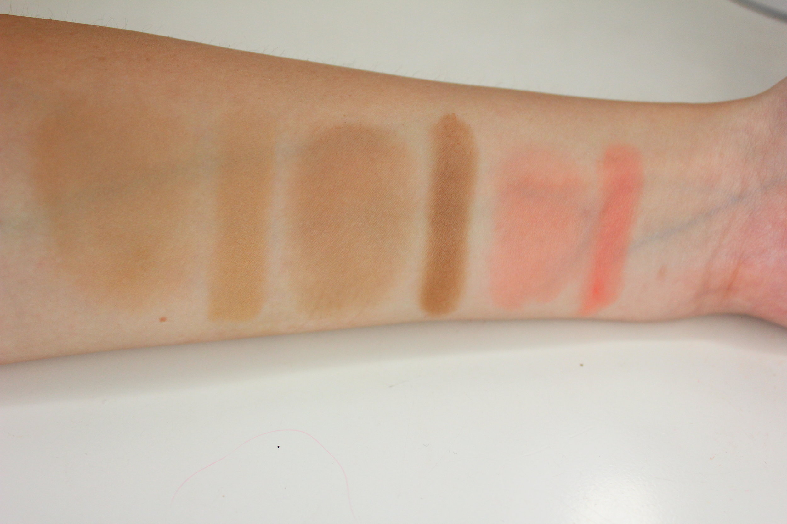Sedona Lace Contour and Blush Palette swatches contour and blush