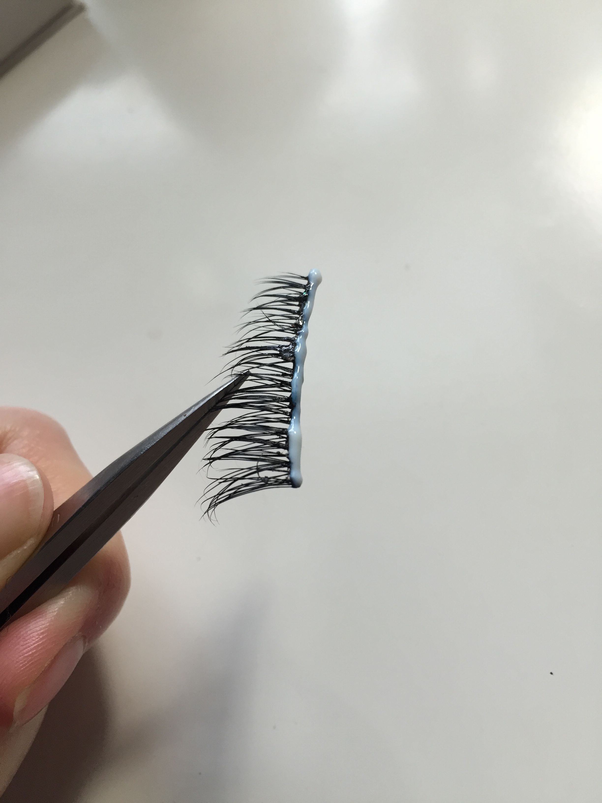 Applying lash glue to lash how to