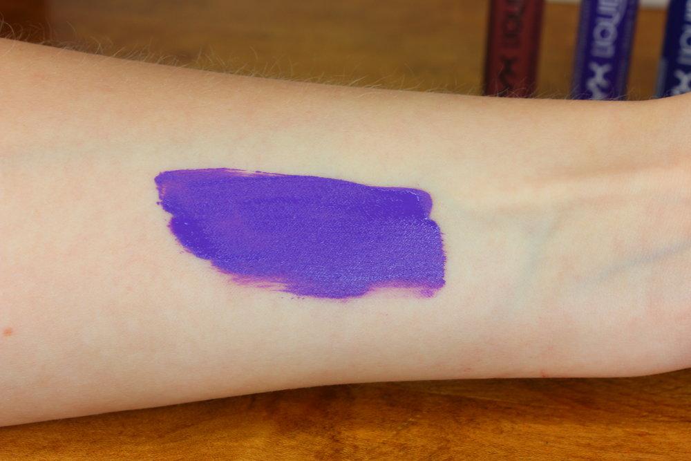 NYX Cosmetics Liquid Suede lipstick in Amethyst