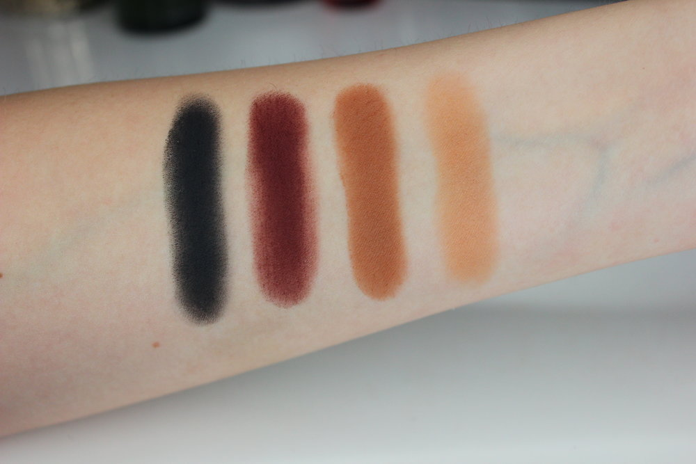 Melt Cosmetics Dark Matter eyeshadow stack - review and swatches