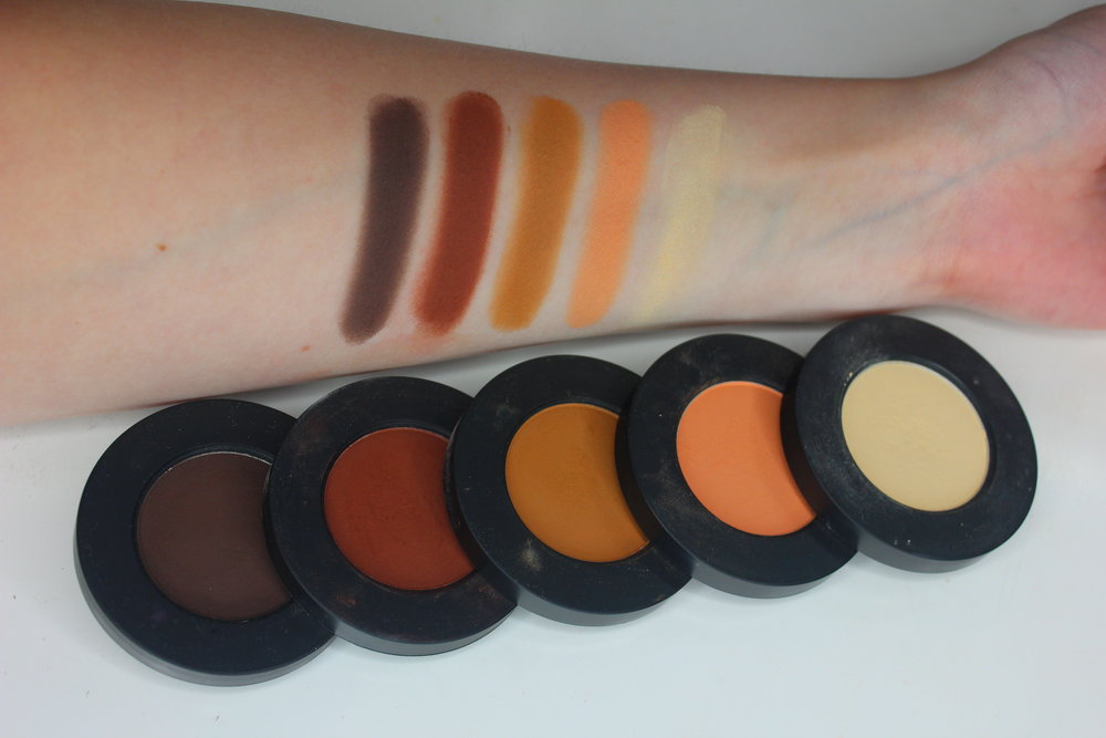 Melt Cosmetics Rust eyeshadow Stack swatches