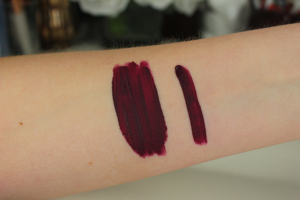Coloured Raine Matte lip paint review - Roulette swatch