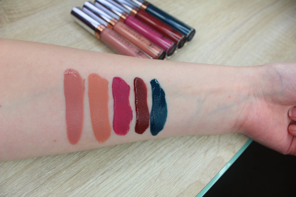 Current favorites - Anastasia liquid lipstick swatches - requiem